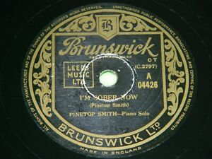 CLARENCE PINETOP SMITH : I'm sober now / Jump steady blues - 1950 UK 78rpm 204
