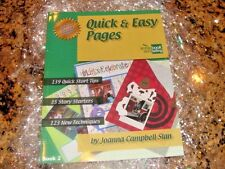 """Joanna Campbell Slan"" New! Quick & Easy Scrapbook Pages Instruction Book Ideas!"