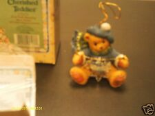 Cherished Teddies _  bear with dangling snow flakes hanging ornament 1997
