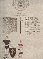 HYBORIAN LEGION certificate. Unused. AMRA, ROBERT E. HOWARD. Sword & sorcery