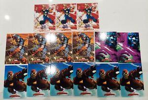 Lot (35) 2008 Marvel Masterpieces Spiderman Venom Iron Man Cap Wolverine Thor