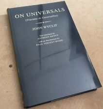 John Wyclif On Universals - DE UNIVERSALIBUS - 1985