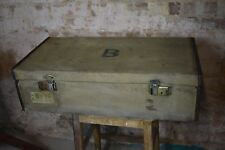 Antique WW2 Military Travelling Officers Suitcase Case Iron cross Storage Case