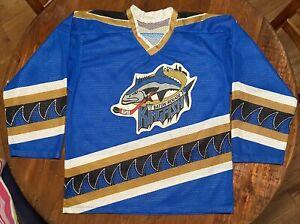 Vintage Baton Rouge Kingfish Minor League Hockey Mens XL Jersey Made in Canada