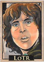 LOTR Lord of the Rings PSC ACEO Sketch Card Pippin by Rich Molinelli