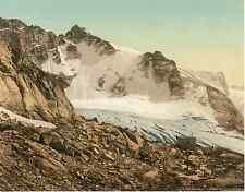 Graubünden. Ober-Engadin. Der Fornogletscher  Photochrome original d'époque
