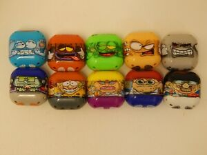 All 10 Square Mighty Beanz! Jumping beans! Square bean!