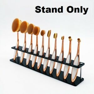 10 Holes Makeup Brush Holder Acrylic Brush Cosmetic Storage Stand UK STOCK