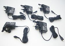 5-Pack UK AC Charger w/ Micro-USB plug 5V 600mA for Bluetooth Headsets & Mobiles