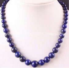18'' 6-14mm Natural Lapis lazuli gemstone Round beads Jewelry Necklaces PN1020