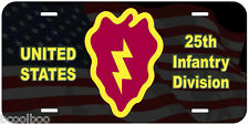 25th Infantry Division Novelty Car License Plate