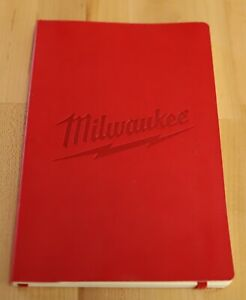 "Milwaukee Power Tools Red Journal 8 1/4"" x 5 1/4""  M12 M18"