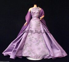 Elegant Lavender Ball Gown with Silver Beading Fashion for Barbie Doll
