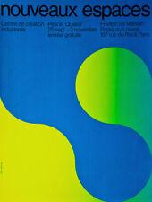 Jean Widmer Nouveaux espaces 1970 sérigraphie comme neuve proche Vasarelly 65x50