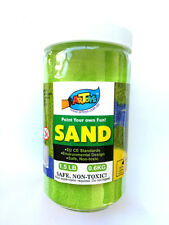Yellow Green Colour Art Sand 600g Bottle Great for School & Home & Party Craft