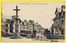 cpa Bretagne CARANTEC (Finistère) Le CALVAIRE Rue de MORLAIX Hôtel du Kelenn
