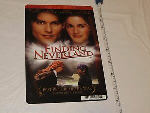 Finding Neverland RARE movie mini POSTER collector backer card 8x5.5 plastic