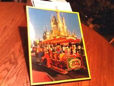 VINTAGE RARE MICKEY MOUSE AND FRIENDS ON TROLLEY DISNEYLAND,  FRAMED POSTER