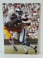 Gary Garrison AUTOGRAPHED 4x6 photo - Chargers Oilers