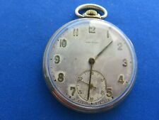 LONGINES Vintage GOLD PLATED O/FACE MANUAL WIND POCKET WATCH 14 SIZE WATCH