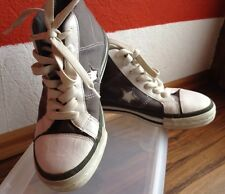 CONVERSE ONE STAR Schuhe/Sportschuhe/Chucks Kinder/Damen Gr 36 grau/weiss WieNeu