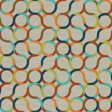 Arc/com Spin Primary modern contemporary circles Vinyl Upholstery Fabric