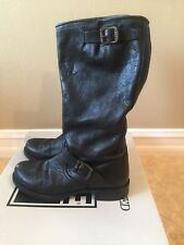 FRYE VERONICA SLOUCH BLACK LEATHER WOMENS BOOTS SIZE 9.5