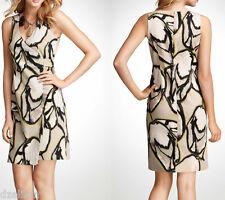 NWT Ann Taylor Modern Print Cotton Stretch Wrap Dress Size 6