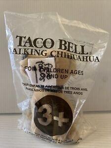 "1998 Taco Bell Chihuahua Plush Talking Dog ""Here, Lizard, Lizard"" Applause NEW!"