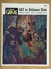 DELAWARE STATE  @ N.C.A&T  COLLEGE FOOTBALL PROGRAM 1974 EX+