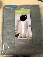 """2 JCPenny Home Energy Saving Grommet Panels 50""""x95"""" Curtain New Sage Green-Quinn"""
