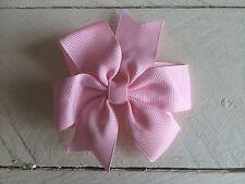 Baby Pink Bow Cabello Clip Flores Niña Dama De Honor Boda Fiesta De Ballet