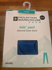 New Isotherm Kids WINTER Warm Thermal Ski Base Layer Size 11-12 years BLUE