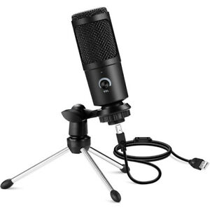 USB Condenser Microphone Mic Tripod Stand For Recording Studio PC Game Chat