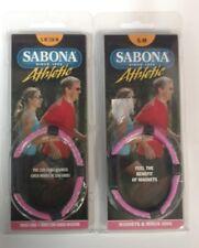 2 Pack - Sabona Athletic Magnetic Bracelet - Pink - S-M