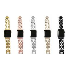Stainless Steel Double Row Chain Link Apple Watch Band - All Series, All Faces