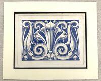 1859 Print Greek Architecture Decorative Wall Centerpiece Panel Antique Original