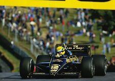 Ayrton Senna Lotus Brands Hatch 1985 Action POSTER