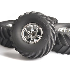 4X 135mm Rubber Tires&Wheel 12mm Hex For HSP RC 1:10 Bigfoot Monster Truck Car