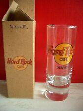 HRC Hard Rock Cafe Denver Classic Logo Black Letter Shot Glass Schnapsglas