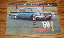 1960 Chevrolet Full Line Sales Brochure 60 Chevy Impala Bel Air