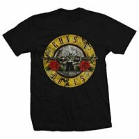 Guns N Roses GnR Distressed Bullet Logo Heavy Rock Music Mens Shirt 12161286