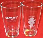 Lot of 2 BNSF RAILWAY KANSAS Division 2019 SAFETY BELL, TRAIN Clear Beer GLASSES