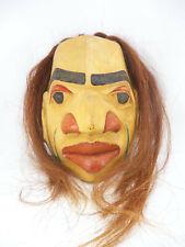 Pacific Northwest Native American Kwakiutl Spalted Cedar Mask Signed J Cano