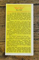 Glad Day by Mary Kohli - Christian Leaflet by Evangelical Tract Distributors