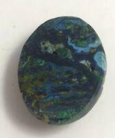 Azurite with malachite and chrysocolla cabochon, Peru, 5.6 grams