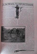 Gun Shooting School Blagdon Woods Surrey Cogswell Harrison Ltd Old Article 1901