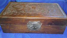 Chinese Dynasty Huang Hua Li Wood Dragon Storage Casket Jewelry Box VERY RARE**
