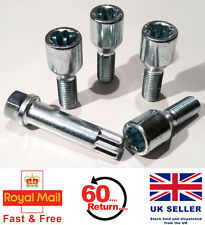 Audi 80 90 100 200 Tuner slim alloy wheel bolts + star key. M14 x 1.5 set of 4