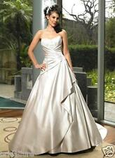MAGGIE SOTTERO 💕$1599 6 OYSTER SATIN BEADED LACE A-LINE BALLGOWN WEDDING DRESS